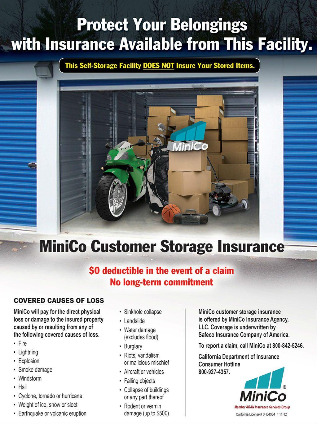 Tenant Insurance | Boulder Drive Storage